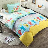 纯棉三件套学生宿舍0.9m寝室 床单被套单人床1.2米1.5