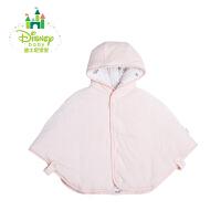 迪士尼Disney童装宝宝披风天鹅绒斗篷加厚保暖披风连帽秋冬款164S876