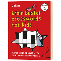 柯林斯儿童字谜游戏书 英文原版 Collins Brain Buster Crosswords for Kids 纵横