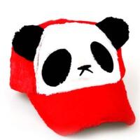 冬天男女童鸭舌帽 亲子帽 可爱宝宝熊猫帽子 棒球帽 儿童毛绒帽