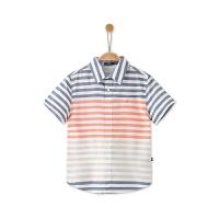 诺帝卡童装 儿童短袖衬衫夏季男童短袖衬衫条纹衬衫