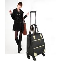 万向轮牛津布拉杆箱旅行箱包女手提行李包男大容量旅行袋防水 黑色 【送密码锁】