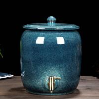 景德镇陶瓷水缸泡茶储水桶饮水机储水罐家用水龙头10 20 30 40斤