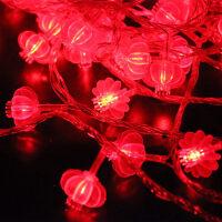 萌味 彩灯 红灯笼防水彩灯串10米LED彩灯闪灯新年装饰元宵节串灯节日装饰物品过年灯笼灯串