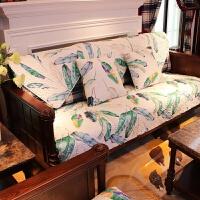 沙发垫四季通用沙发套实木沙发垫子全棉客厅三人座垫套装组合