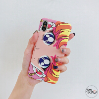 美少女战士水冰月iPhoneX/Xr手机壳7plus眼睛挡脸8p苹果Xsmax硬6s iPhoneX/XS美少女插画眼