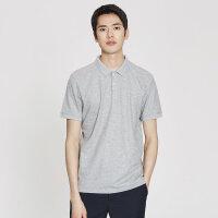 【2件2.5折到手价:43.75】MECITY男装夏季纯色休闲潮流运动Polo衫男士潮流白色短袖