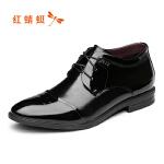 【领�幌碌チ⒓�120】红蜻蜓男鞋秋冬新款男士皮鞋商务正装加绒棉鞋真皮系带鞋