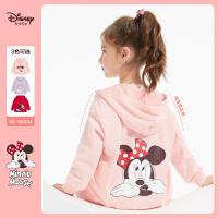 【4折�A估�r:83.9元】迪士尼女童�B帽外套2021春�b新款卡通�r尚�和�����洋�馔��b上衣潮