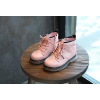 真皮童鞋秋冬新款 韩版儿童靴子 男童女童皮靴 时尚儿童马丁靴