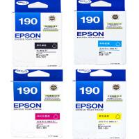 原装爱普生Epson 190 号墨盒 T1901 黑色 T1902 青色 T1903 洋红色 T1904黄色 适用于爱普