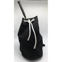 双肩帆布桶式羽毛球包网球包旅行休闲篮球包