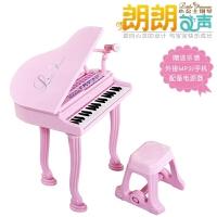 宝宝电子琴玩具儿童钢琴 女孩电子琴早教 带麦克风、乐谱、电源器源乐堡 朗朗之声 小公主钢琴