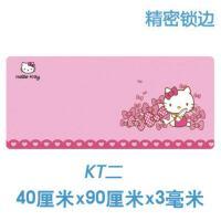 卡通可爱鼠标垫子超大电脑桌垫加厚办公定制女生凯蒂猫韩国布朗熊 400x900mm 3mm