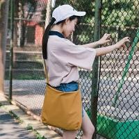学院风文艺帆布单肩包新款韩版夏季百搭复古休闲简约森系女包