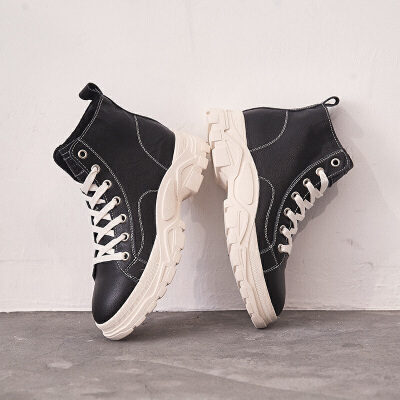 秋冬季ins韩版百搭靴子女短筒英伦风学生真皮短靴2018新款加绒潮SN6335