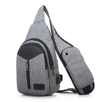 胸包男单肩包斜挎包运动跨包休闲简约男士韩版潮流小包包尼龙布包