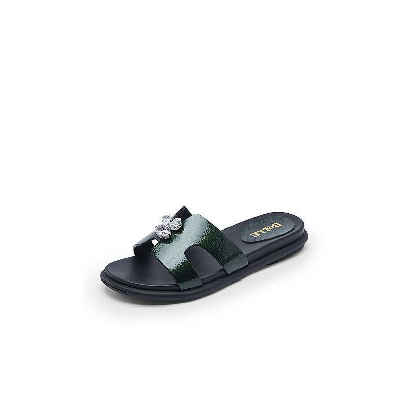 Belle/百丽夏季专柜同款人造革女拖鞋R5G1DBT7