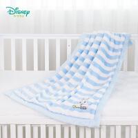 迪士尼Disney童装 婴儿毛毯秋冬新品加厚保暖盖毯子男女宝宝法兰绒双层推车被子183P798