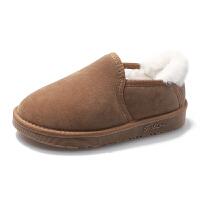 豆豆鞋 男女士加绒保暖一脚蹬情侣棉鞋雪2020秋冬韩版学生面包鞋低帮短靴子
