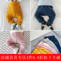 婴儿春季纯色打底裤6-个月新生幼儿裤子0一1岁宝宝纯棉长裤