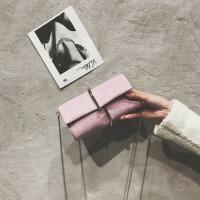 包包女2018新款韩版手拿回形针女包时尚单肩斜挎包蛇骨链条小包潮