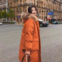 冬季女中长款韩版羽绒棉袄加厚保暖大毛领2018年新款棉衣女潮