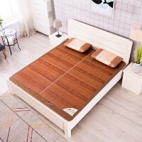 竹席折叠碳化凉席两面可用1.8米床1.5m家用宿舍单双人席子直筒 比翼双飞折叠席(送冰丝枕套) 1.8*2.2m床