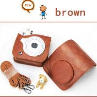 拍立得相机皮包 mini8 25 70 90 mini9复古棕色凸盖相机包