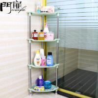 门扉 三角置物架浴室 不锈钢管塑料墙角转角架子厨房简约落地三脚支架多功能储物杂物收纳架