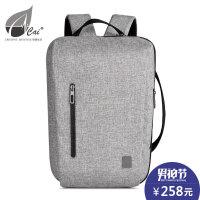 cai男女多功能商务背包13寸电脑包时尚简约韩版潮流双肩包手提包