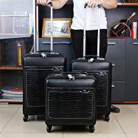 拉杆箱万向轮行李箱16寸20寸登机箱旅行箱s6 黑色 18寸