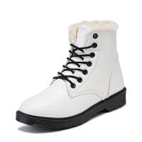 2018冬季新款韩版短筒棉鞋学生秋季马丁靴短靴百搭加绒雪地女鞋潮