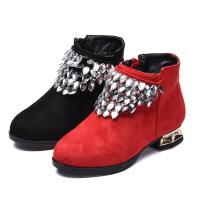 女童鞋冬款2018新款韩版百搭儿童靴子秋冬季鞋子加绒短靴公主棉鞋
