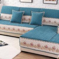 沙发垫布艺欧式四季通用简约现代坐垫子沙发套全包�f能套靠背巾
