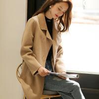 毛呢外套女双面仿羊绒大衣中长款新款2018韩版赫本风呢子秋冬款