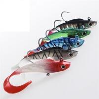 软饵鱼饵红头白身鲈鱼饵远投大克重海水鲈鱼