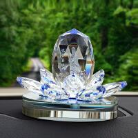创意轿车内饰品小车汽车香水座式摆件保平安观音佛像车载水晶用品