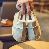 2018冬季新款儿童鞋子男童女童加绒手工毛边棉鞋冬鞋保暖鞋雪地靴srr