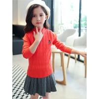 女童毛衣秋装中大童纯棉打底针织衫儿童外套宝宝童装线衣