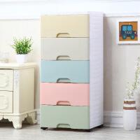 收纳柜 马卡龙多层抽屉式收纳柜 玩具杂物储物柜塑料儿童简易组合收纳柜