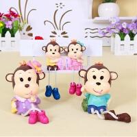 创意家装饰品工艺品幼儿园室内装饰电视柜家居摆件卡通吊脚娃娃