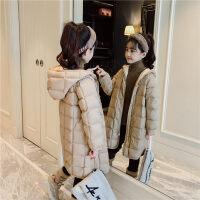 女童轻薄羽绒服2018新款韩版冬装儿童加厚中长款童装连帽外套洋气