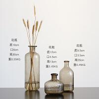 北欧式ins气泡花瓶透明玻璃摆件茶色家居客厅餐桌摆设插干花花器