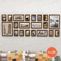 实木客厅照片墙相框墙欧式卧室创意个性装饰沙发背景墙挂墙组合