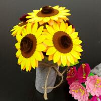 不织布花盆布艺盆栽母节礼物 儿童手工花制作幼儿园diy材料包