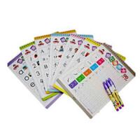 儿童学前描红擦擦卡练习册 魔笔小良幼儿早教拼音汉字练习册