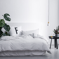 ???简约男士格子 床单四件套全棉纯棉 单人学生宿舍床上三件套 2.0m(6.6英尺)床 床单款