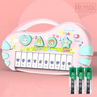 儿童电子琴儿童电子琴玩具早教益智婴儿6音乐女孩宝宝18个月初学钢琴0-1-3岁A