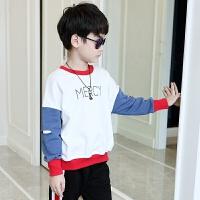 男童卫衣春秋新款儿童秋装中大童韩版套头打底衫男孩